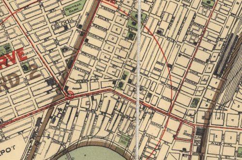 A 1910 map of Winnipeg, showing many areas where the strike unfolded. UMASC.