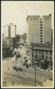 Notre Dame avenue, showing Oxford Hotel on left. COWA. Martin Berman Postcard Collection (vol. 4D).