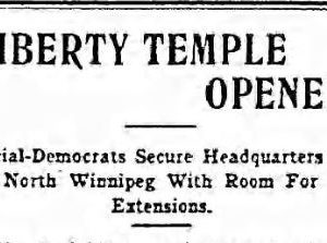 Liberty Temple opens. The Voice, September 14, 1917. UML.