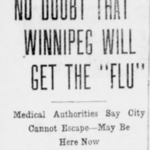 Winnipeg Tribune, October 3, 1918. UML.