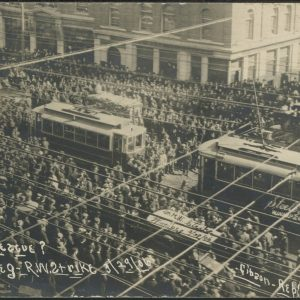 Main StreeWinnipeg Street Railway Strike. COWA. Martin Berman Postcard Collection (vol. 4A).